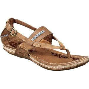 Merrell Tan Leather Sandals Shoes